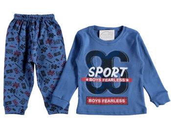 Пижама на мальчика 4/6 лет синяя 316117